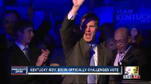 Bevin challenges longtime rival Beshear's election victor [Video]