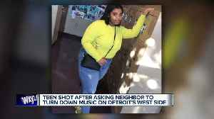 Teen shot after asking neighbor to turn down music on Detroit's west side [Video]