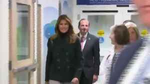 Melania Trump receives warm welcome at Boston Medical Center [Video]