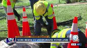Underground power lines installed in some Jensen Beach neighborhoods [Video]