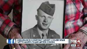 News video: Insurance company denies coverage for World War II Veteran's electric wheelchair
