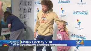 Phillip Lindsay Visits Young Fans At Children's Hospital [Video]