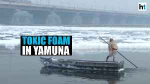 Delhi pollution woes: Toxic foam floats in river Yamuna [Video]