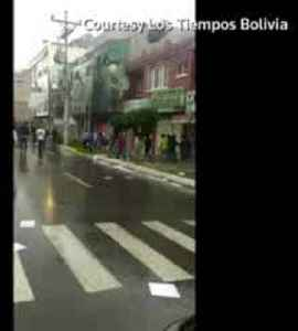 Town hall lit on fire during Bolivian protest chaos [Video]