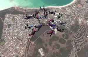 Australian women set skydiving record [Video]