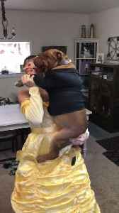 Dog and Owner Dance Adorably Dressed as Characters From Fairy Tale [Video]