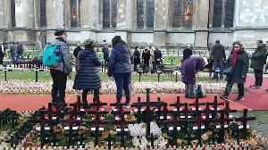 News video: WWII Veterans lay tributes to fallen comrades at the Field of Remembrance in Westminster Abbey
