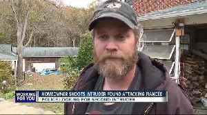Homeowner shoots intruder found attacking fianceé [Video]