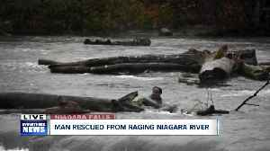Man rescued from raging Niagara River [Video]