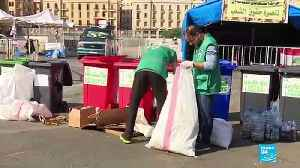 Lebanese activists clean up after protests [Video]