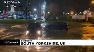 Torrential rain causes floods in northern England [Video]