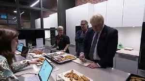 Boris Johnson tastes Iceland's chicken [Video]