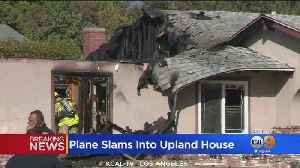 Pilot Killed After Small Plane Crashes Into House In Upland, Sparks Large Fire [Video]