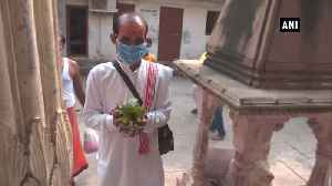 Shivling covered with mask at Varanasi temple to protect Lord Shiva from air pollution [Video]