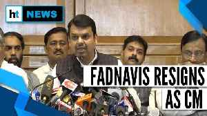 News video: Devendra Fadnavis quits as CM, lashes out at Shiv Sena