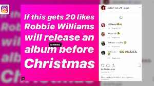 News video: Robbie Williams trolls Justin Bieber with Christmas album release post