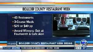 News video: Boulder County Restaurant Week starts today