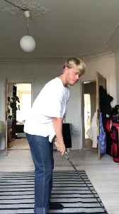 Guy Breaks Lamp while Practicing Golf Swing [Video]