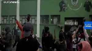 Watch: Bolivian police join scattered anti-Morales protests [Video]