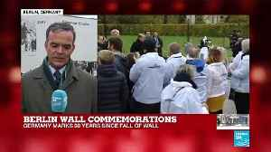 "Berlin Wall commemorations: ""It's a day for imagining what kind of future Germans want"" [Video]"