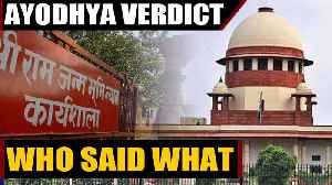 Ayodhya Verdict: Who said what about the landmark decision | Oneindia News [Video]