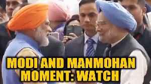 PM Modi greets former PM Manmohan Singh during Kartarpur ceremony [Video]