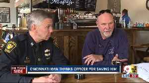 Cincinnati man thanks officer for saving him from heart attack [Video]