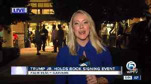 Donald Trump Jr. in Palm Beach Gardens Friday night for book signing event [Video]