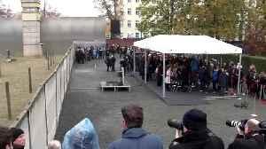 Merkel marks anniversary of Berlin Wall [Video]