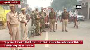 News video: Supreme Court to deliver verdict in Ayodhya case on Nov 9