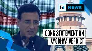 Ayodhya verdict: l 'BJP can't play politics on the issue now': Congress [Video]