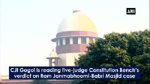 News video: Ayodhya verdict Records show Hindus were in possession of disputed land outer court says SC