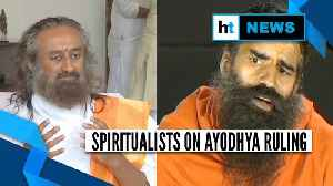 News video: Ayodhya ruling | Ravi Shankar to Ramdev: Spiritualists welcome SC verdict