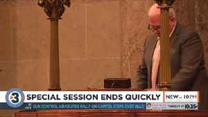Senate Republicans gavel in, gavel out during special session held at Capitol [Video]