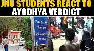 News video: Section of JNU students held protest-meet post Ayodhya verdict | Oneindia News