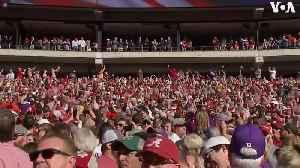 News video: Trump cheered by crowd at Alabama-LSU football game