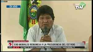 News video: Evo Morales presentó su carta de renuncia