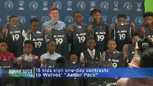 Timberwolves Host 'Junior Pack' Big Brothers Big Sisters For A Day [Video]