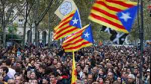 'Freedom for political prisoners,' Catalan separatists chant on election eve [Video]