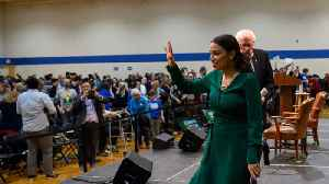 Alexandria Ocasio-Cortez Brings In Crowds Of People At Bernie Sanders Iowa Rallies [Video]