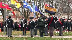 Members of the public and veterans attend Remembrance Day service in Aurora, Canada [Video]