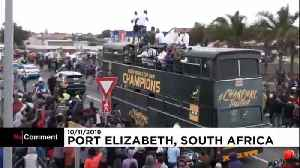 Triumphant Springboks return home to celebrate Rugby World Cup win [Video]