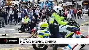 Hong Kong police shoot protester as chaos erupts across city [Video]