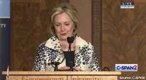 News video: Hillary Clinton Says Male Leaders Are 'Scared' of Greta Thunberg