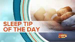 SLEEP TIP OF THE DAY: Unwind From Stress [Video]
