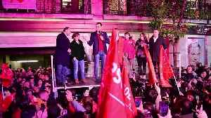 News video: Spain's Socialists win election but fall short of outright majority