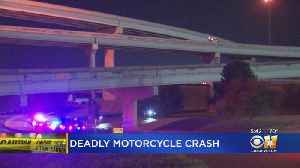 Motorcyclist Dies After Falling 90 Feet Off Fort Worth Bridge [Video]