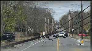 Car Crash In Walpole Brings Down Power Lines, Road Remains Closed [Video]