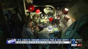 World War II ship built in Baltimore in 1942, S.S. John W. Brown looking for a new berth world [Video]