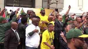 Springboks visit South Africa's Parliament with Webb Ellis Cup [Video]